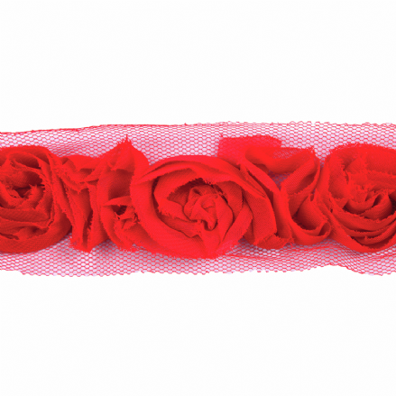 Rose Trim -Red 45mm x  13.7MTRS (15 YARDS)